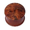 Boîte bois ronde