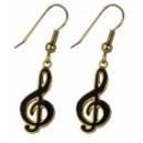 Boucles d'oreilles (la paire) métal émaillé