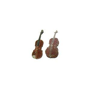 Pin's métal émaillé motifs violon ou violoncelle