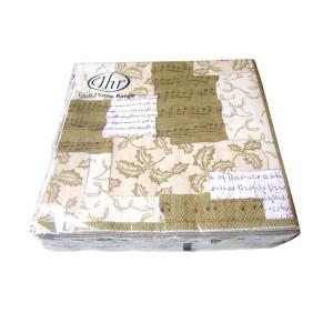Serviettes en papier or