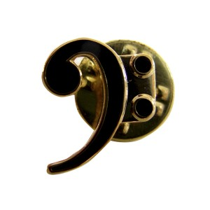 Pin's métal émaillé motif clé de fa