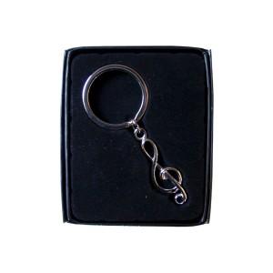 Porte-clefs argenté dans boîte de présentation