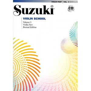 Pack Cahier + CD Suzuki violon n°3