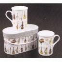 """set de 2 mugs motif """"orchestre"""""""