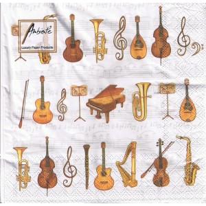 """serviettes papier motif """"orchestre"""""""