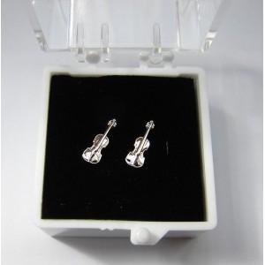 """boucles d'oreille """"mini"""" motif violon"""