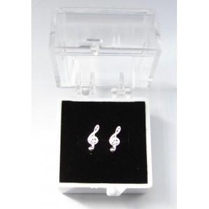 """boucles d'oreilles """"mini"""" motif clé de sol"""