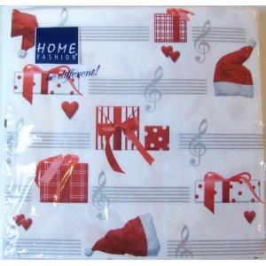 serviettes papier motif Noël