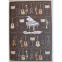 cahier de notes motif instruments