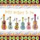 carte anniversaire motif guitares