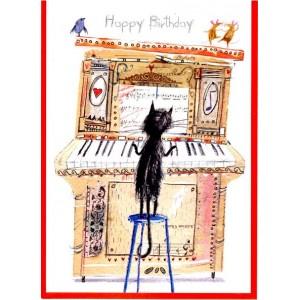 carte anniversaire motif piano