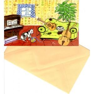 carte à rabat motif Hausmusik