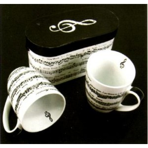 set 2 mugs motif partitions