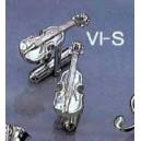 boutons de manchettes motif violon